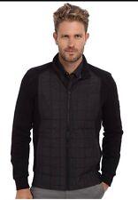 Calvin Klien Mix Media Quilted Jacket L New