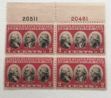 Yorktown PLATE BLOCK OF 4 #703  Mint NH OG perfect