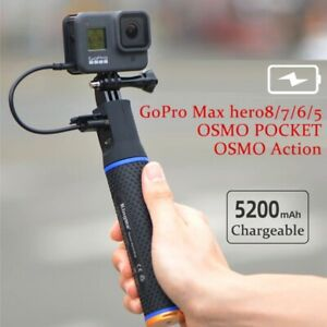5200mAh Power Bank for GoPro max hero9/8/7/6/5 Rechargeable Battery  Hand Grip