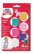FIMO Kids Soft Polymer Clay Six Colour Basic Starter Set Fun Modelling Pack 202