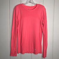 GapFit Womens Motion Long Sleeve Pink Workout Top Shirt Size Medium