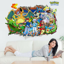 Pokemon Go Wall Sticker Removable Pikachu Decals for Kids Room Decor