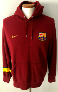 Nike BluZa FC Barcelona BARCA Sewn Hoodie Hooded Pullover Size XL Extra Large