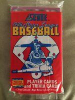 1988 Score Baseball Card Pack Mike Scioscia (Top) Ron Roenicke (Back)