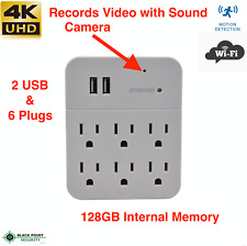 Nanny Cam WIFI Motion Detection Spy Hidden Wall Outlet Adapter Live Stream