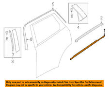 MAZDA OEM 16-18 CX-9 Rear-Window Sweep Belt Felt Molding Left TK4850670