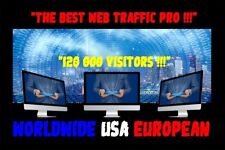TRAFIC WEB TRAFFIC ONLINE WEBSITE 120 000 REAL VISITORS WORLDWIDE USA EUROPEAN