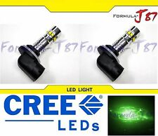 CREE LED 50W 881 H27 GREEN TWO BULB FOG LIGHT PLUG PLAY REPLACE SHOW OFF ROAD