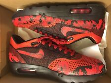 NEW NIKE AIR MAX 1 ULTRA FLYKNIT ID RED CAMO BLACK RUNNING SNEAKERS MEN SIZE 8