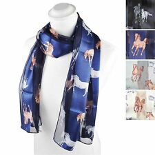 Racing Satin Stripe Animal, Cat, Horse, Dog Print Neck/Head Scarves