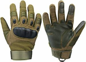 Survival Gloves Rubber Hard Full Finger and Half Finger Protective Touch Camping
