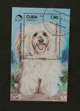 Karibik 1992 Block Hund Haustier gestempelt
