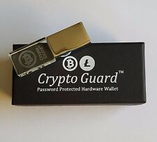 Bitcoin Crypto Guard - Password Protected Cold Storage Wallet - Nothing Safer!