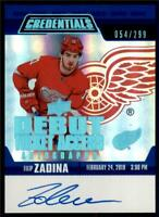 2019-20 Credentials Debut Ticket Access Auto #RTAA-FZ Filip Zadina RC /299