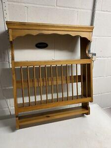 Pine  Plate Rack Display Unit.