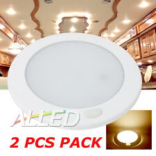 2X12V Flourescent Switch LED Interior Cabin Roof Ceiling Light Caravan RV Truck