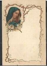Ancient letter of the Virgin of Dolores santino image pieuse litografia