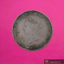 RARE 100% silver Coin HONG KONG COIN ONE DOLLAR QUEEN COIN 1YUAN