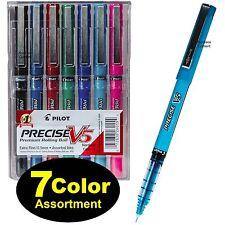 7 Color Assortment, Pilot Precise V5 26015, 0.5mm Extra Fine Rolling Ball Pen