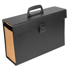 Large Black Expanding File Concertina 20 Part Tab Folder A4 Paper Storage File