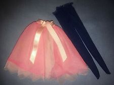 1976 Barbie Francie Sears Exclusive #9650 Blue Navy Tights Pink Tulle TUTU Skirt