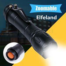 Elfeland 10000LM Torcia zoom regolabile XPE Lampada 18650 batteria 5-modalità