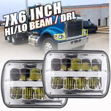 """2pcs 7""""X6"""" LED Headlights DRL for International 5900i 7300 7400 9200 9400 9900"""