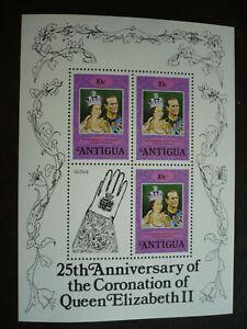 Stamps - Antigua - Scott# 508 - Souvenir Sheet