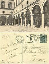 G502-MILANO, CASTELLO SFORZESCO,CORTILE DELLA ROCCHETTA,TARGHETTA MECCANICA,1923