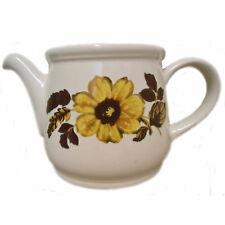 Sadler Pottery Decorative Teapot Sunflower Flower Vintage 1960s Shabby Chic Vase
