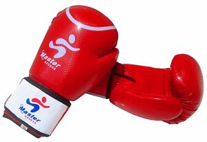 Master Sports Boxing Gloves Punching Bag Mitts MMA Training Sparring 10 Oz