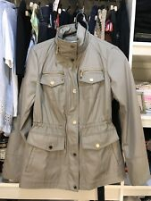 Michael Kors beige trench style jacket with hood size  S
