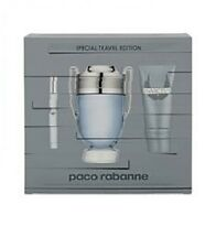 PACO RABANNE INVICTUS 100ML 3PC SET MENS EDT FRAGRANCE SP NEW I/B 100% GENUINE