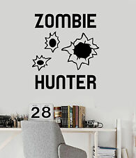 Vinyl Wall Decal Zombie Hunter Teen Boy Room Stickers Mural (ig3670)