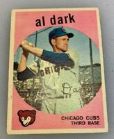 1959 Topps # 502 Alvin Al Dark Baseball Card Chicago Cubs