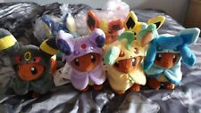 Pokemon Center Eevee Poncho Plush Full Set