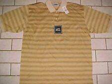 Slazenger Golf Apparel Gold Golfer 100% Mercerized Cotton Polo Shirt L New NWT