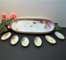 Japanese Nippon Nut Bowl Set, Antique Collectible Plates, 1911, Pre-Wwii