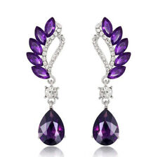 Fashion Women's Crystal Rhinestone Silver Ear Stud Drop Dangle Earrings Jewelry