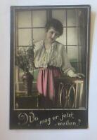 Frauen, Mode, Wo mag er jetzt weilen, 1918, Feldpost  ♥  (14416)