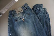 Pepe Jeans Persian Crop Détendu Boyfriend Baggy Harem Pantalon W32 L30 Bleu Neuf