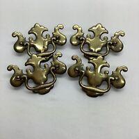 "VTG Ornate Brass Drop Handles Drawer Pulls Lot 3"" Center To Center"