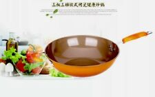 32cm Ceramic Porcelain Non-Stick Coated Fry Pan With See Through Glass Lid AU