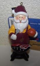 "Cleveland Cavaliers NBA Santa Grilling 4"" Christmas Tree Ornament"