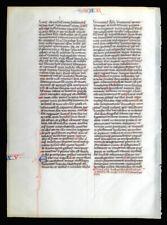 ILLUMINATED MANUSCRIPT MEDIEVAL BIBLE LEAF - c. 1230-40, PARIS - LAST SUPPER