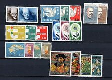 Portugal #855//1059 (PO242) (7) complete sets, all, M, LH, FVf, CV$52.20