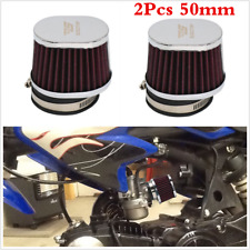 2pcs 50mm Air Cleaner Intake Filter Pod Kit Universal For Motorcycle Scooter ATV