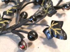 Vintage Millinery Flower Black Ivy w/Glass Currants NS5