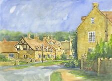 Broadway, Cotswolds - Hand Signed, Titled and Mounted Print with COA