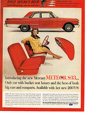 Vintage 1962 Magazine Ad Mercury Meteor S-33 Only Car With Bucket Seat Luxury
